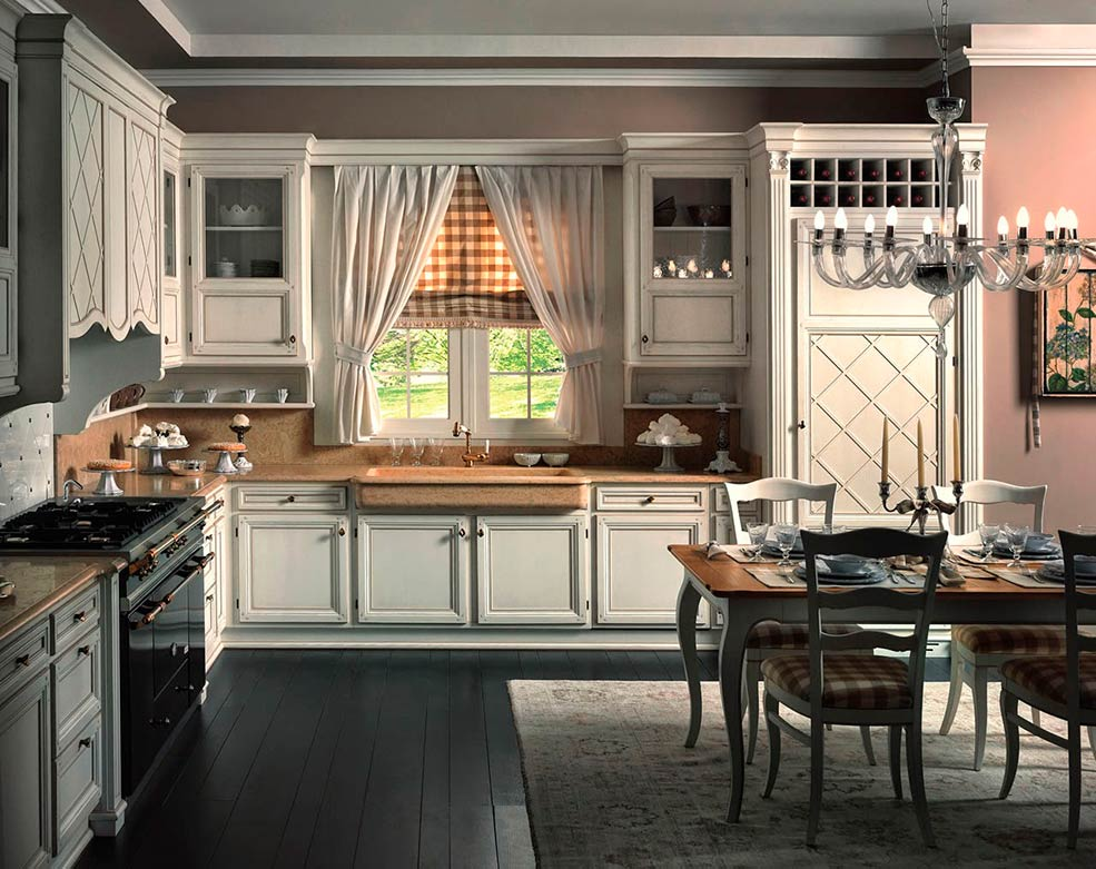 кухня-в-английском-стиле-светлая