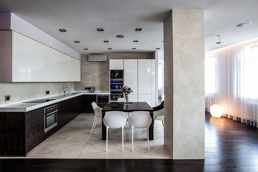 кухня-студия-зонирование