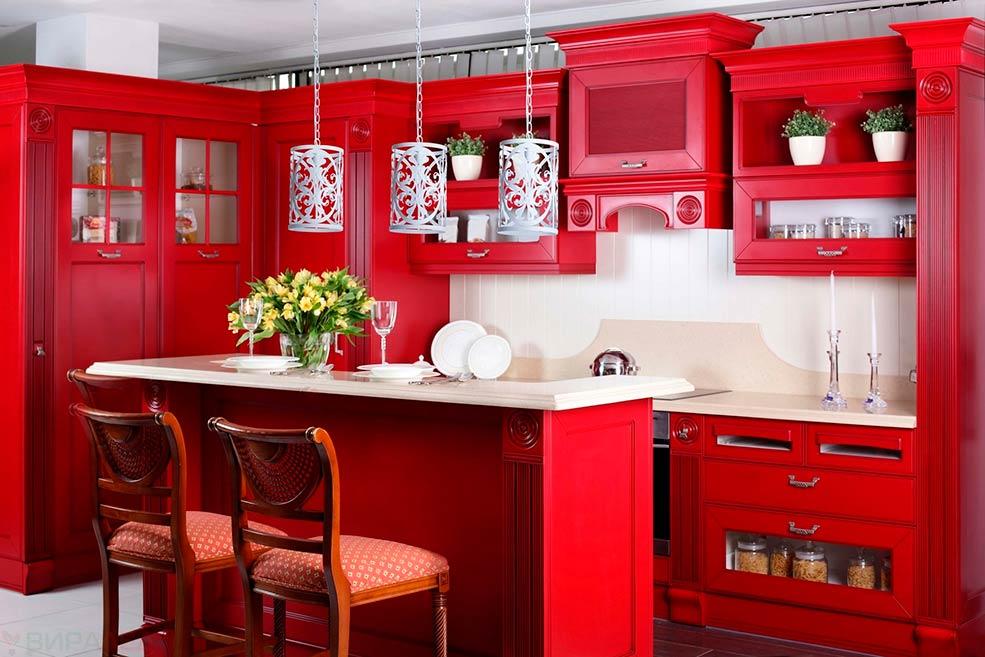 красная-кухня-классика