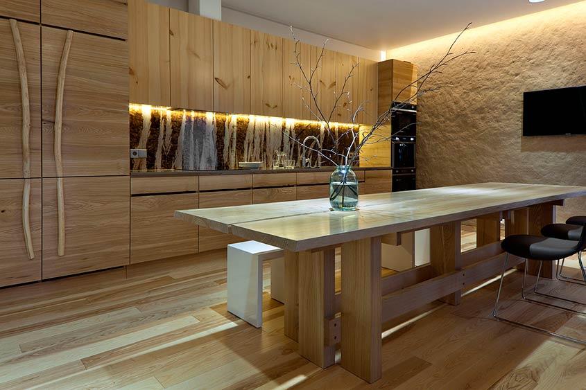 кухня-дерево-японский-стиль