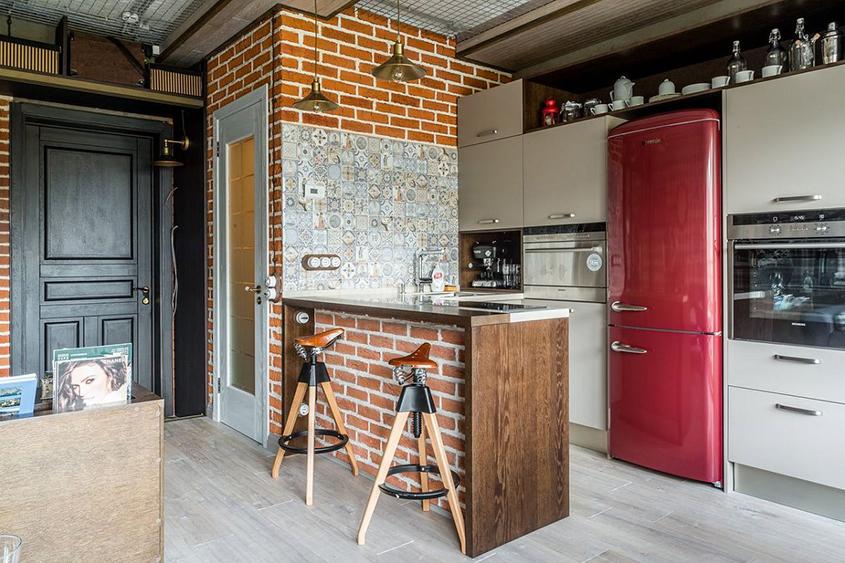 угловая-кухня-прихожая