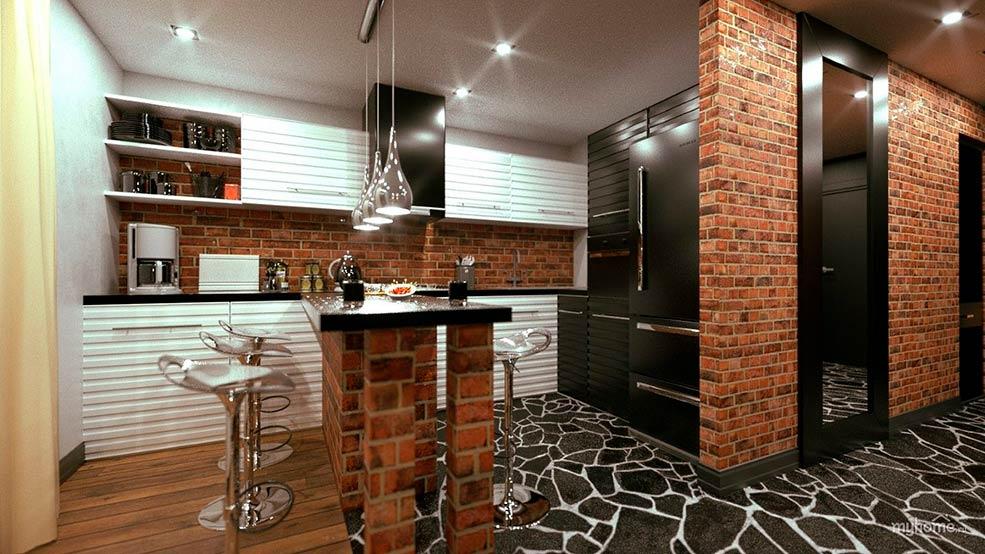 дизайн-кухни-лофт