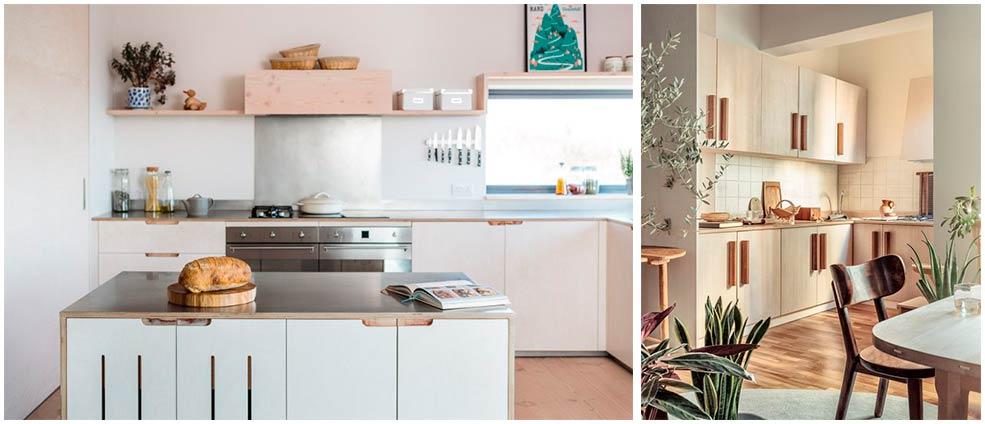 Кухня-с-фасадами-из-фанеры-в-интерьере