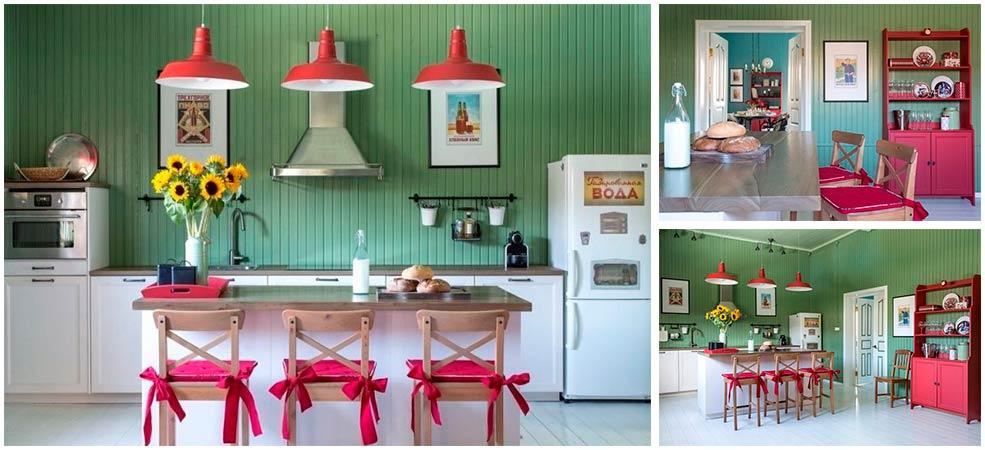 Кухня-в-частном-доме-в-стиле-кантри