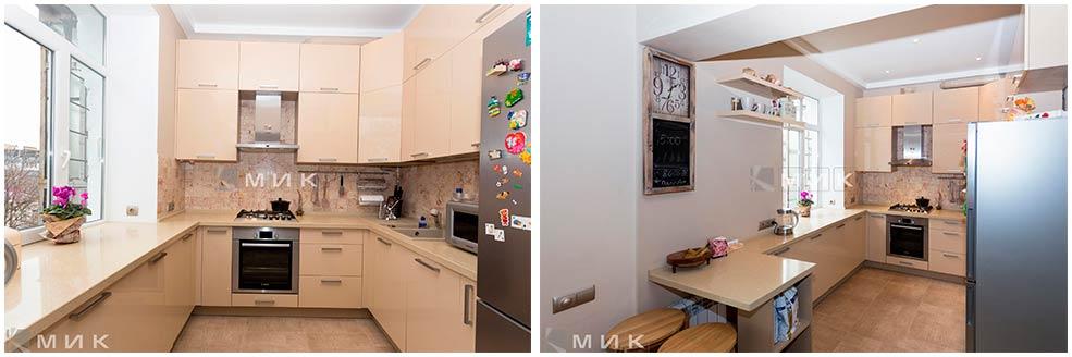 П-образная-бежевая-кухня-9-кв-м