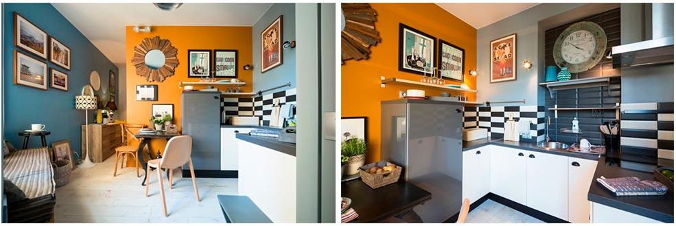 П-образная-кухня-без-навесных-шкафов