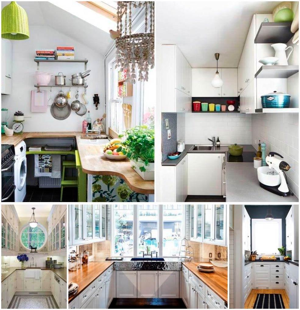П-образная-узкая-кухня