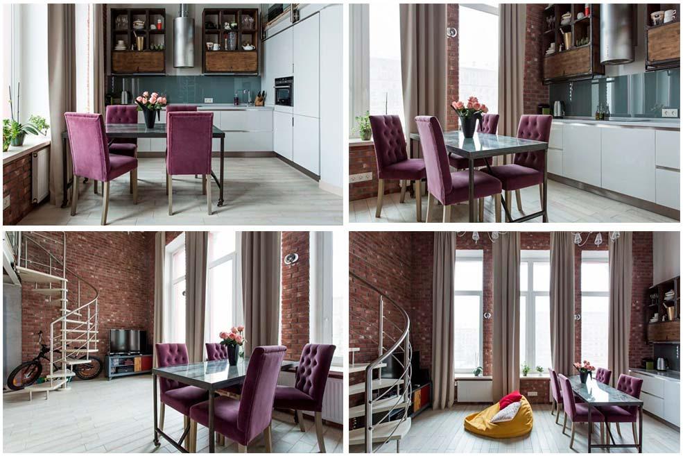 Современнная-мебель-в-интерьере-кухни-в-стиле-лофт