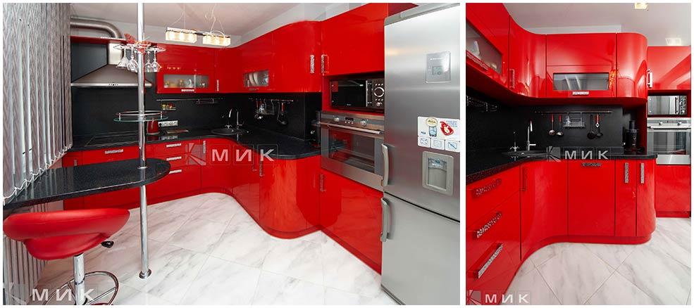 барная-стойка-на-красной-кухне