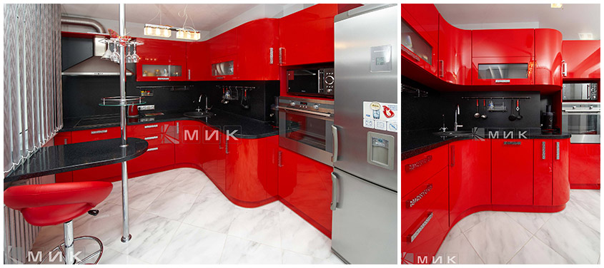красно-чёрная-угловая-кухня