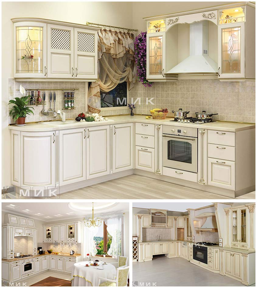 кухни-классика-патина-золото