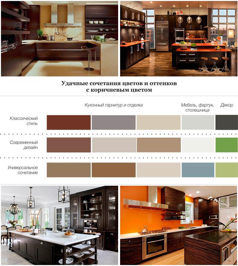 кухни-коричневого-цвета-фото