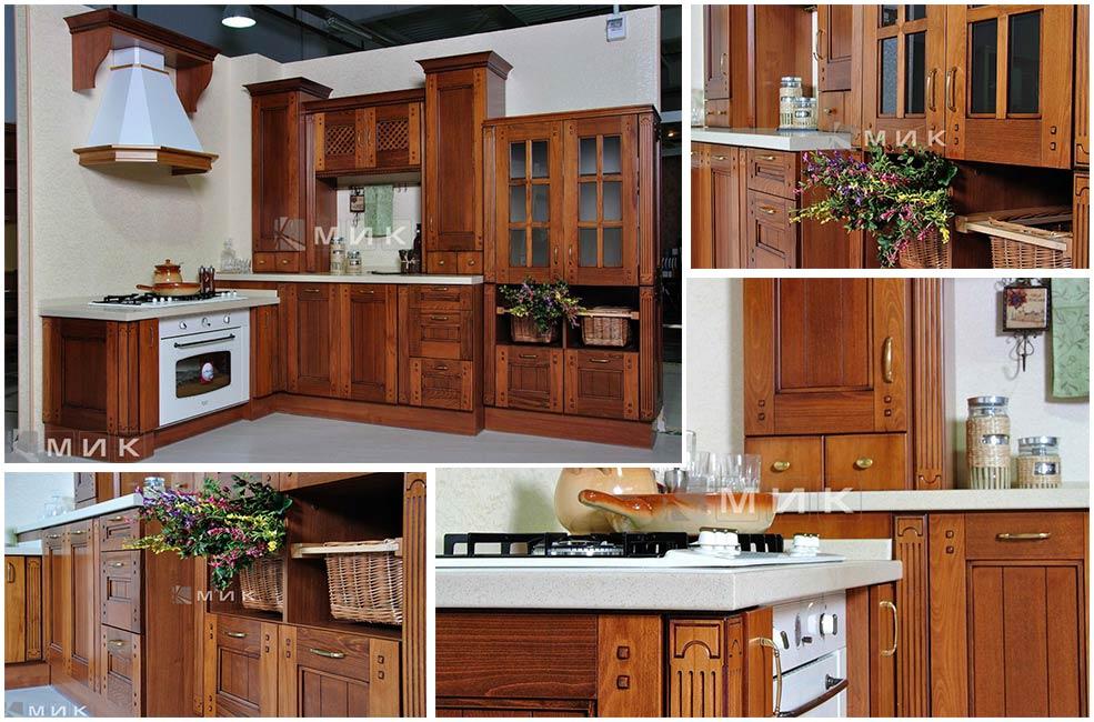 кухня-кантри-коричневая