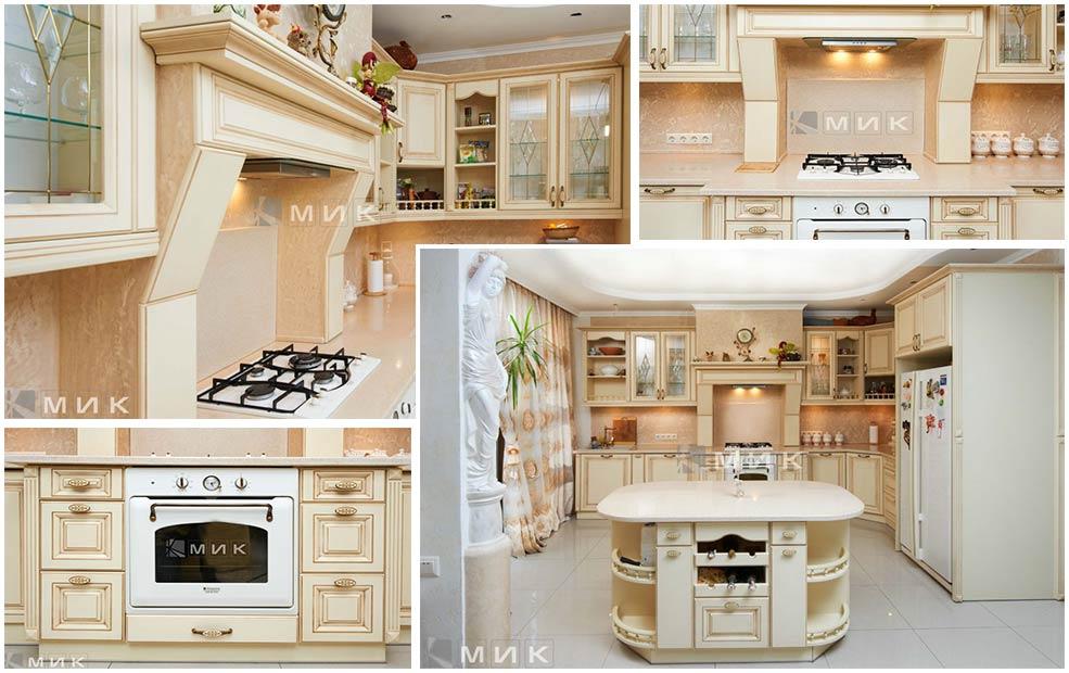 кухня-с-островом-в-частном-доме
