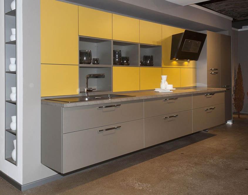 кухня-жёлтая-с-серым