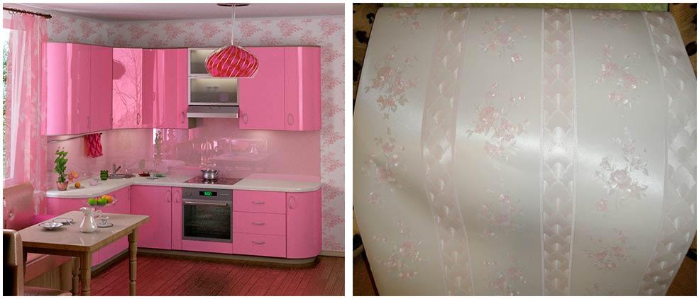 розовые-обои-для-кухни