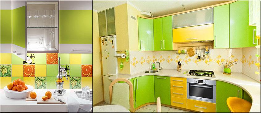зелёная-с-жёлтым-кухня