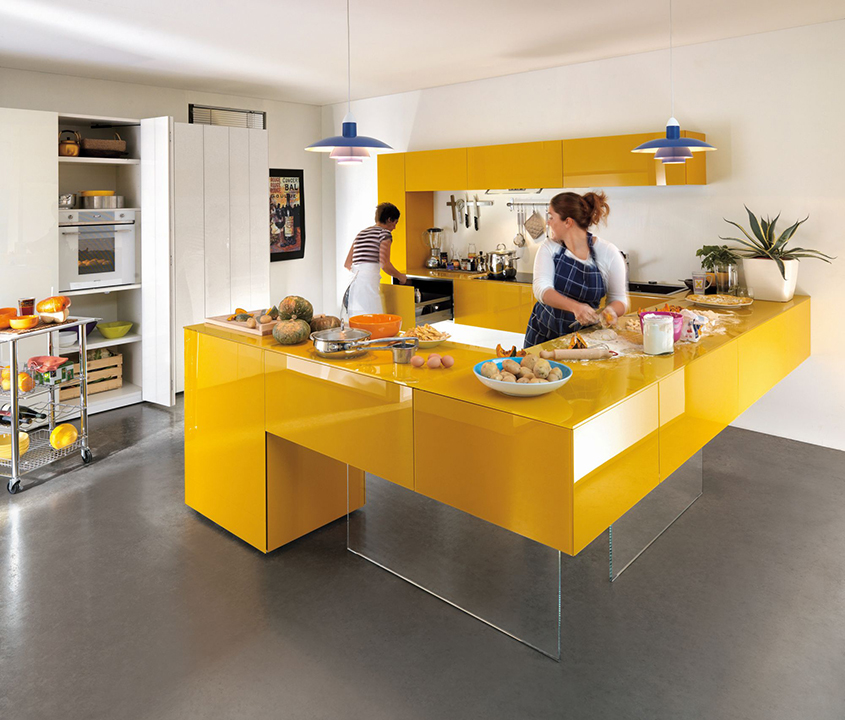 жёлтая-кухня-модерн