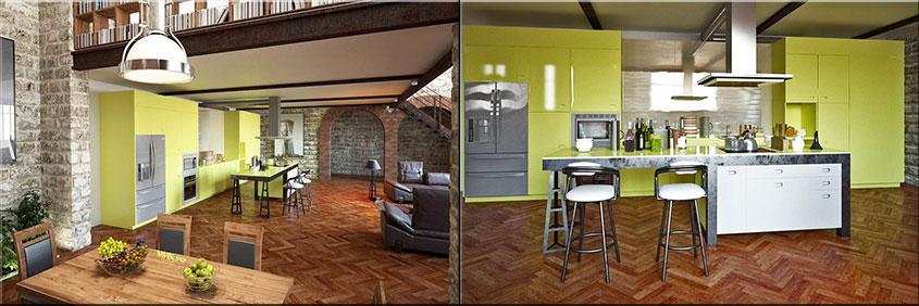 жёлтая-кухня-студия